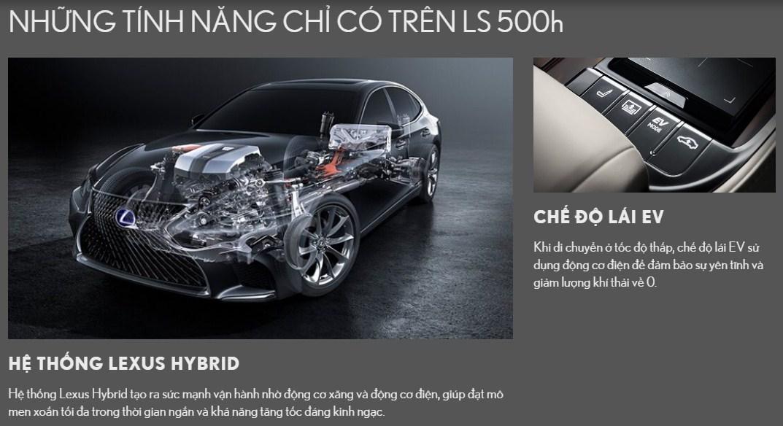 động cơ lexus ls500h 2019