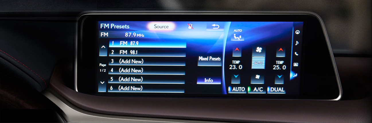 màn hình trung tâm hiển thị thông tin