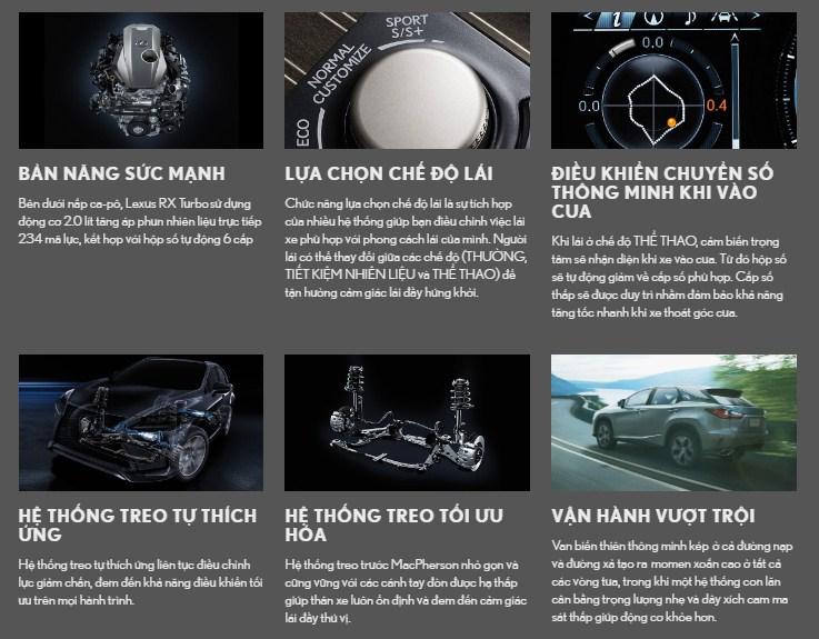 động cơ và vận hành RX300 2019