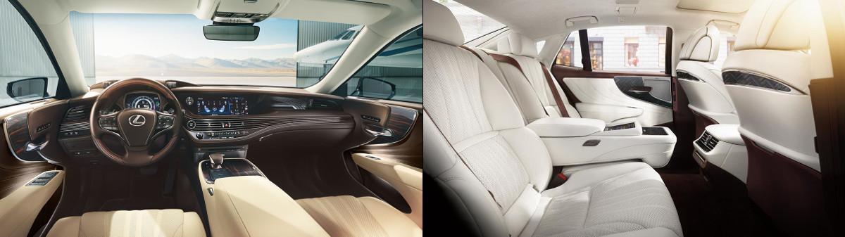 nội thất lexus ls500 ls500h hàng ghế trước và sau