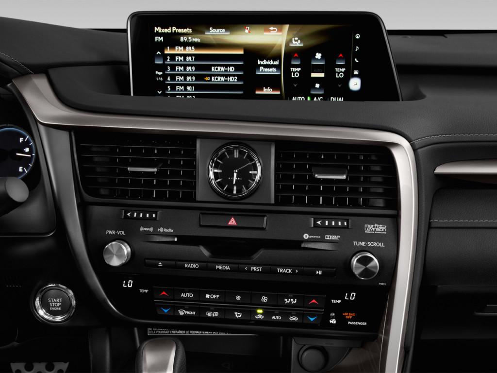 hệ thống giải trí trên Lexus RX 350L