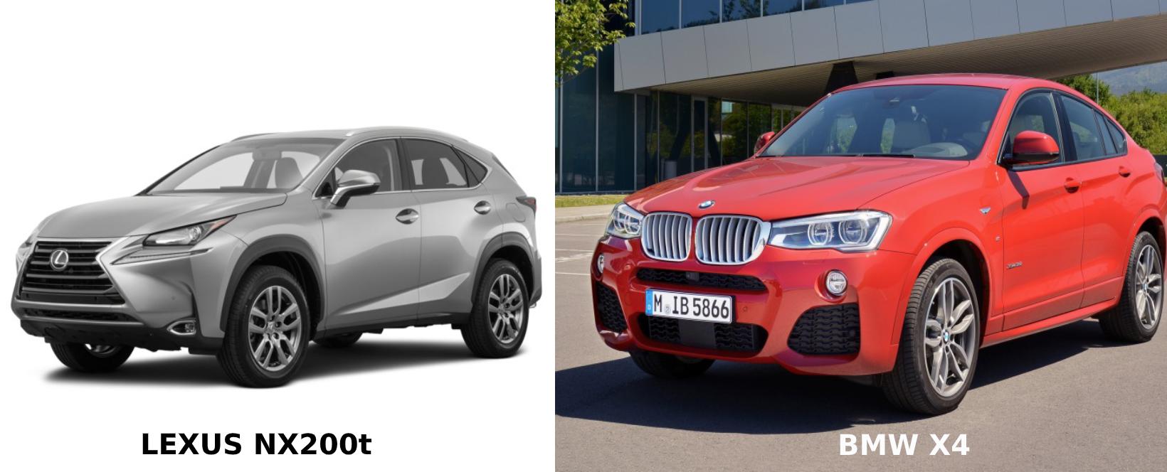 So sánh Lexus NX200t 2017 và BMW X4 2017: Nên lựa chọn mẫu xe nào