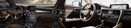nội và ngoại thất Lexus RX200t vs GLC 250
