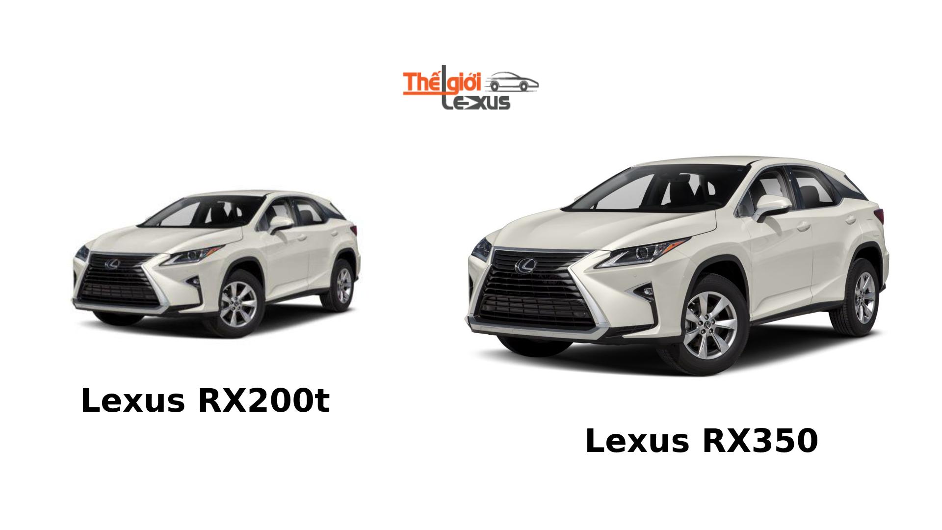 so sánh Lexus RX200t và RX350