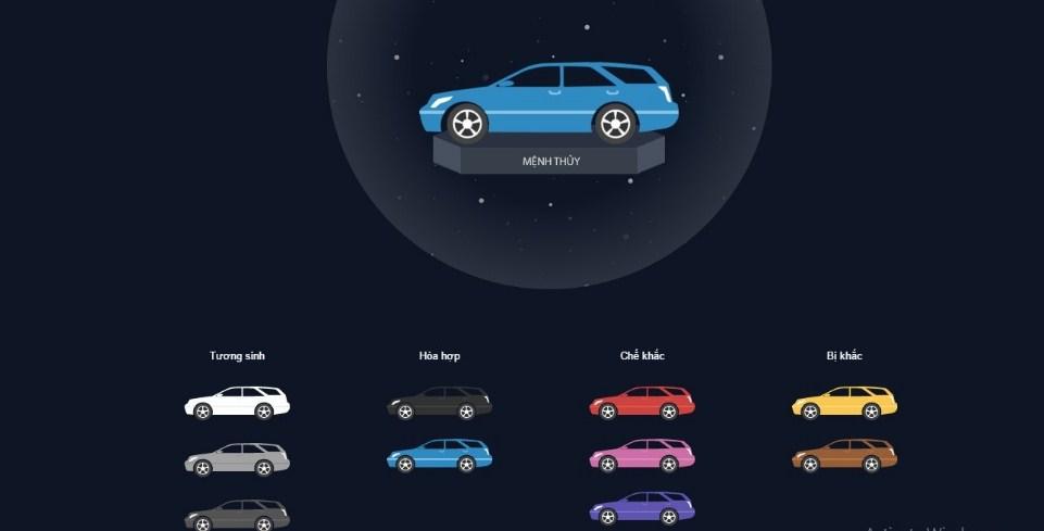Người mệnh Thủy nên chọn màu xe nào