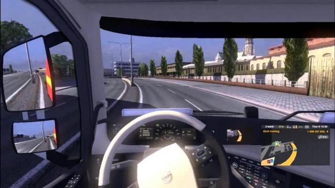 Cách xác định hướng chuyển động của xe khi căn đường