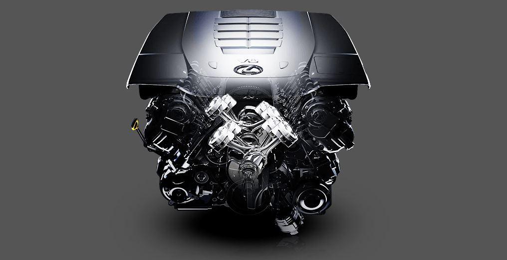 Lexus LS460L 2018 sử dụng loại động cơ V8 4.6L với 32 van DOHC