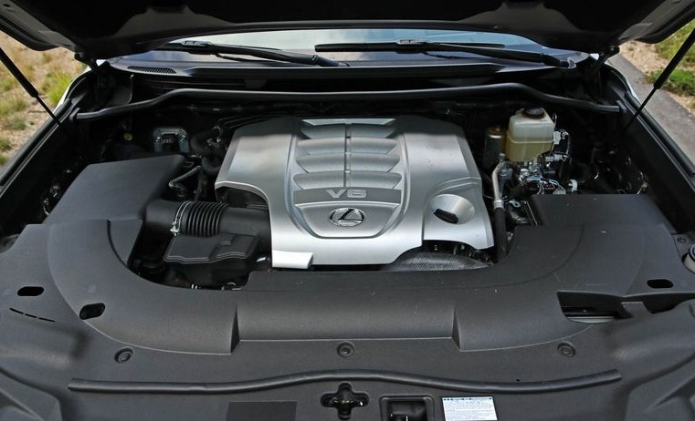 Động cơ V8 5.7L cho công suất 362 mã lực Lexus LX570