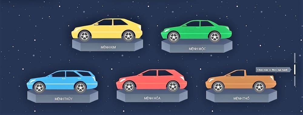 cách khắc phục màu xe không hợp mệnh