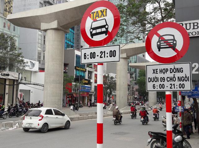 đoạn đường cấm ô tô lưu thông theo khung giờ