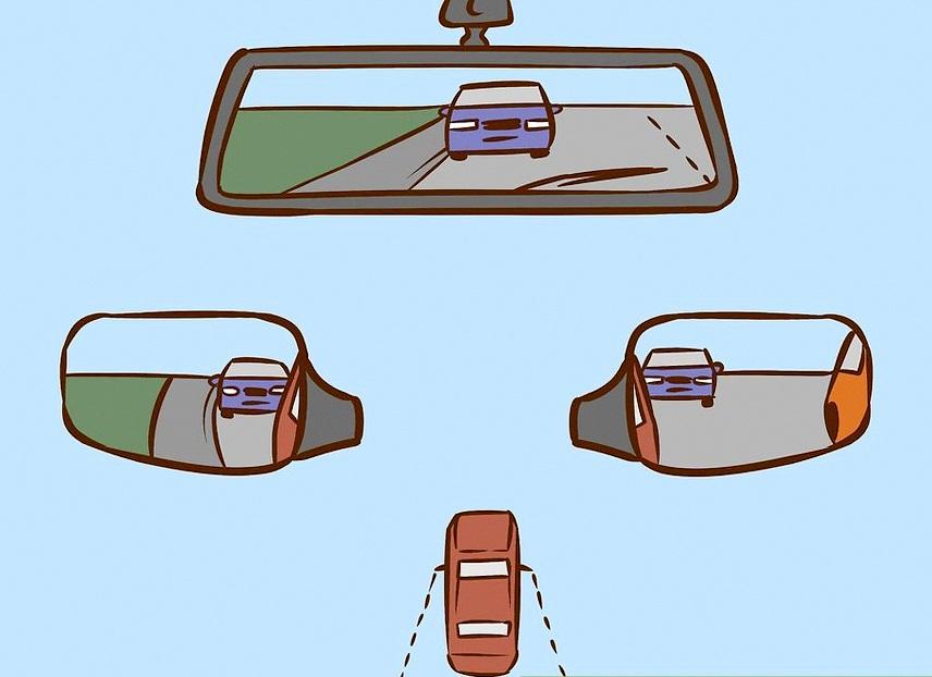 Cách nhìn gương chiếu hậu để hạn chế điểm mù