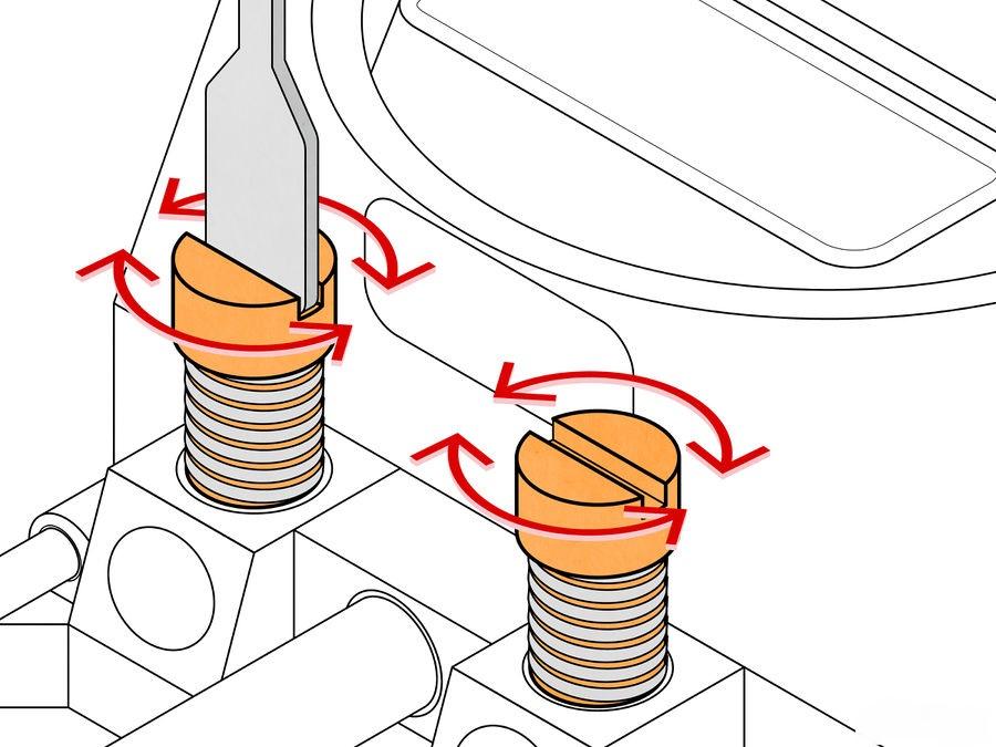 Cách Điều chỉnh vít hỗn hợp nhiên liệu không khí ở chế hòa khí