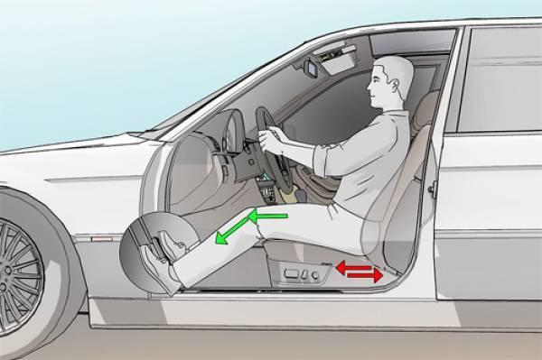 Tư thế ngồi xe ô tô đúng phải giữ khoảng cách với ghế lái