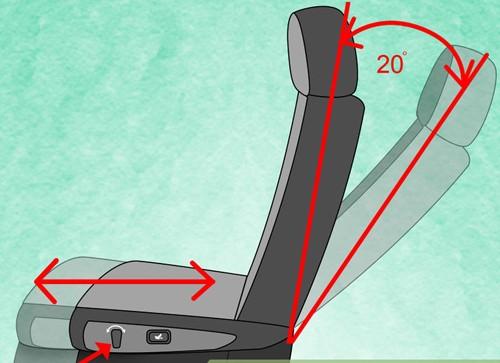 Chỉnh độ nghiêng ghế phù hợp để có tư thế ngồi xe ô tô đúng