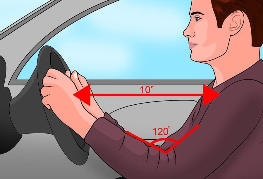 Tư thế ngồi xe ô tô và việc điều chỉnh khoảng cách với vô lăng