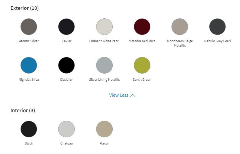 màu sắc xe lexus es300h 2019