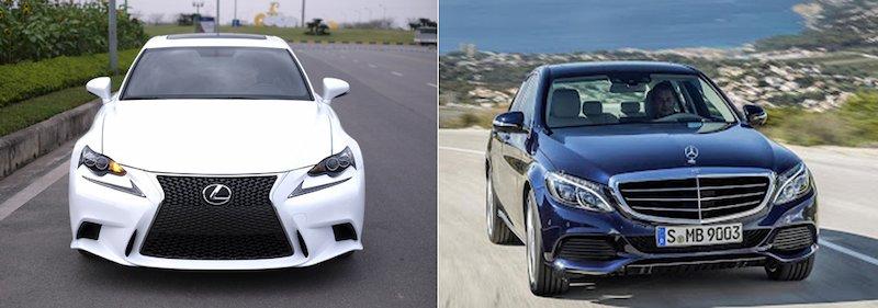 Xe Lexus IS250 và Mercedes-Benz C-Class