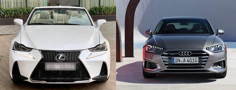 Lexus IS250 và xe Audi A4