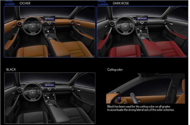Các phiên bản màu nội thất của xe Lexus IS300